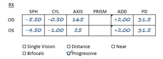 Progressive Prescription sample
