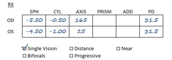 SV prescription sample 2