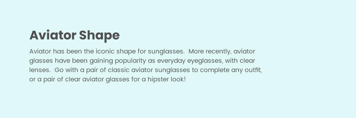 Aviator Shape Eyeglasses