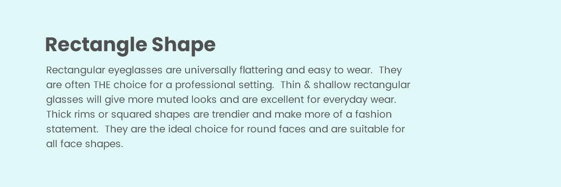 Rectangle Shape Eyeglasses