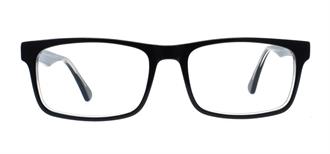 Picture of iLookGlasses DNA 7480 GLOSSY BLACK - PLASTIC,RECTANGLE,FULL-RIM,fashion,office,everyday - prescription eyeglasses online USA