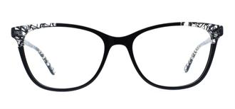 Picture of iLookGlasses OTTO - CAITLYN BLACK - PLASTIC,RECTANGLE,OVAL,FULL-RIM,fashion,office,everyday,CAT-EYE - prescription eyeglasses online USA