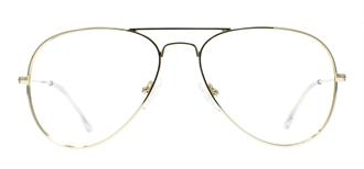 Picture of iLookGlasses OTTO - SUNNY GOLD - METAL,AVIATOR,FULL-RIM,fashion,classic,light weight,office,retro,everyday - prescription eyeglasses online USA